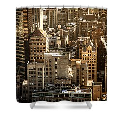New York Cityscape Shower Curtain by Vivienne Gucwa