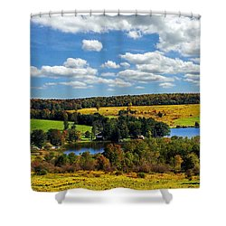 New York Countryside Shower Curtain by Christina Rollo