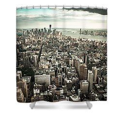 New York From Above - Vintage Shower Curtain by Hannes Cmarits
