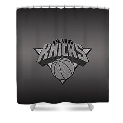 New York Knicks Shower Curtain by Paulo Goncalves