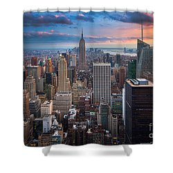 New York New York Shower Curtain by Inge Johnsson