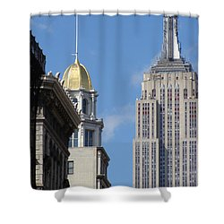 Shower Curtain featuring the photograph New York New York by Ira Shander