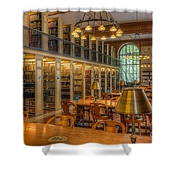 New York Public Library Genealogy Room I Shower Curtain by Clarence Holmes