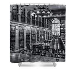 New York Public Library Genealogy Room II Shower Curtain by Clarence Holmes