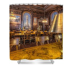 New York Public Library Periodicals Room IIi Shower Curtain by Clarence Holmes