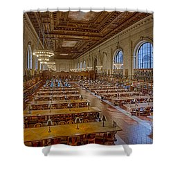 New York Public Library Rose Room  Shower Curtain by Susan Candelario