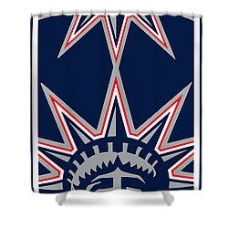 New York Rangers Shower Curtain by Tony Rubino