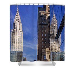 New York Reflections 20 Shower Curtain by Angela A Stanton