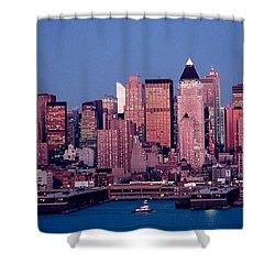 New York Skyline At Dusk Shower Curtain