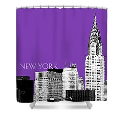 New York Skyline Chrysler Building - Purple Shower Curtain