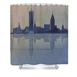 New York Skyline  Shower Curtain by Donna Walsh