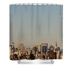 Shower Curtain featuring the photograph New York City Skyline by Kerri Farley