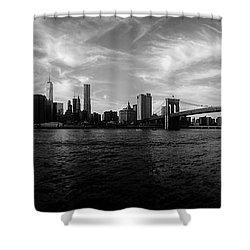 New York Skyline Shower Curtain by Nicklas Gustafsson