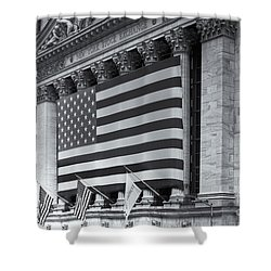 New York Stock Exchange Iv Shower Curtain by Clarence Holmes