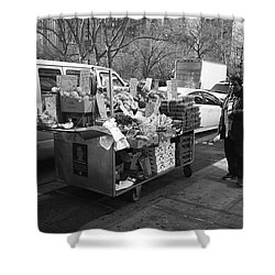 New York Street Photography 5 Shower Curtain by Frank Romeo
