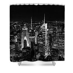 New York Times Square Bw Shower Curtain
