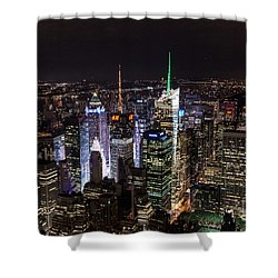 New York Times Square Shower Curtain by Matt Malloy