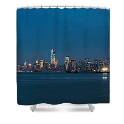 New York Twilight Shower Curtain