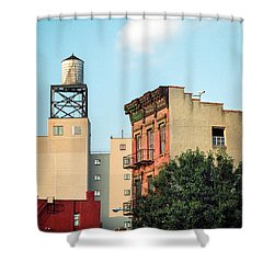 Shower Curtain featuring the photograph New York Water Tower 3 by Gary Heller