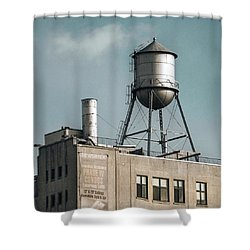 Shower Curtain featuring the photograph New York Water Towers 10 by Gary Heller
