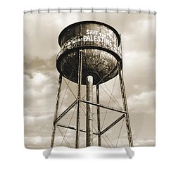 Shower Curtain featuring the photograph New York Water Towers 11 - Greenpoint Brooklyn by Gary Heller