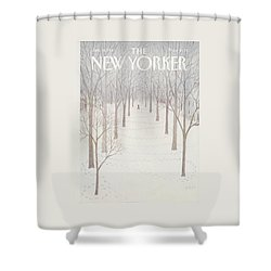 New Yorker January 26th, 1981 Shower Curtain