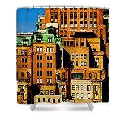 New York Morning Shower Curtain