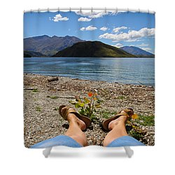 New Zealand Christmas Shower Curtain