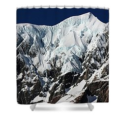 New Zealand Mountains Shower Curtain by Amanda Stadther