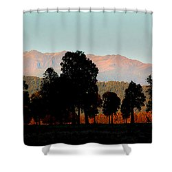 Shower Curtain featuring the photograph New Zealand Silhouette by Amanda Stadther