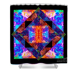 Shower Curtain featuring the painting Newly Formed Bliss Mandala Artwork by Omaste Witkowski
