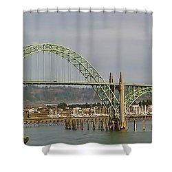 Newport Bay Bridge Shower Curtain by Susan Garren