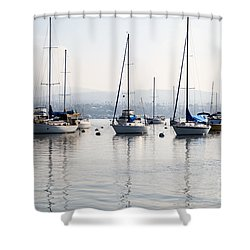 Newport Beach Bay Harbor California Shower Curtain by Paul Velgos