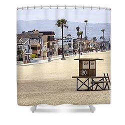 Newport Beach Waterfront Luxury Homes Shower Curtain by Paul Velgos