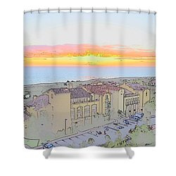 Newport Coast Sunset Shower Curtain by Penny Lisowski