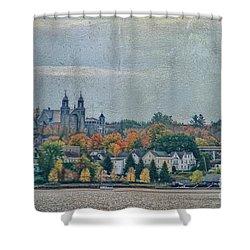 Newport In Autumn Shower Curtain by Deborah Benoit