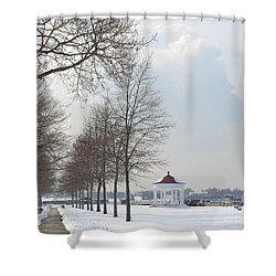 Newport Waterfront Shower Curtain