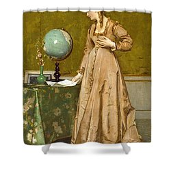 News From Afar Shower Curtain by Alfred Emile Stevens