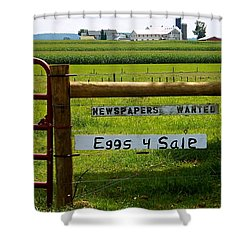 Newspapers Wanted Eggs 4 Sale Shower Curtain