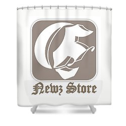 Eclipse Newspaper Store Logo Shower Curtain