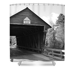 Nh Covered Bridge Shower Curtain