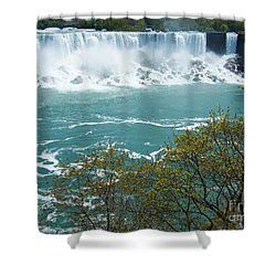 Niagara - American Falls In Spring Shower Curtain by Phil Banks
