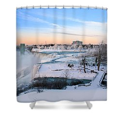 Niagara Falls 3d22213 Shower Curtain by Guy Whiteley