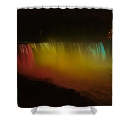 Shower Curtain featuring the photograph Niagara Falls A Glow by Dave Files