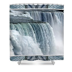 Niagara Falls American Side Closeup With Warp Frame Shower Curtain by Rose Santuci-Sofranko