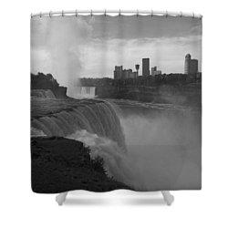Niagara Falls - Autumn - B N W Shower Curtain