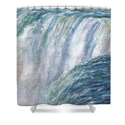 Niagara Falls Shower Curtain by David Stribbling