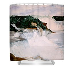 Shower Curtain featuring the painting Niagara Falls by Ellen Canfield