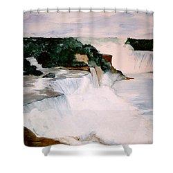 Niagara Falls Shower Curtain by Ellen Canfield