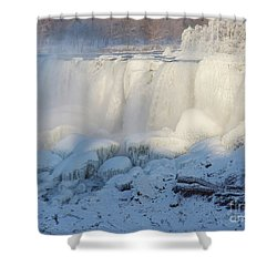 Niagara Falls In Winter Shower Curtain by Phil Banks